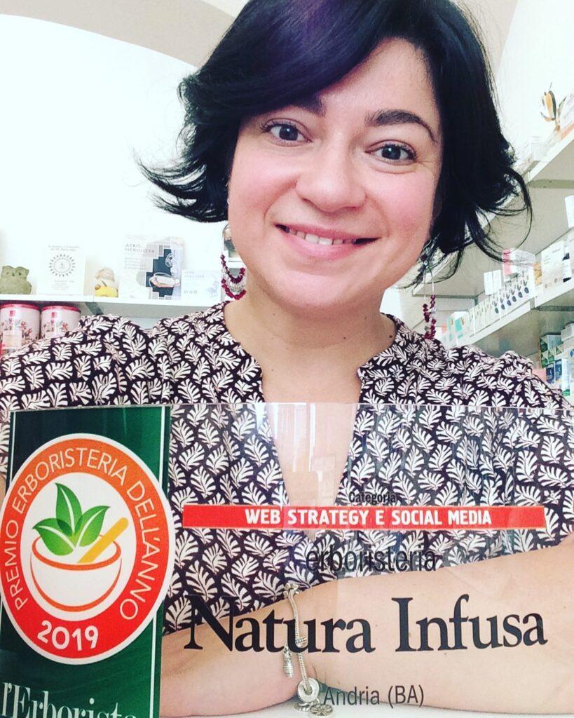 Natura infusa premio erboristeria dell'anno 2019